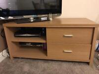 TV table with draws