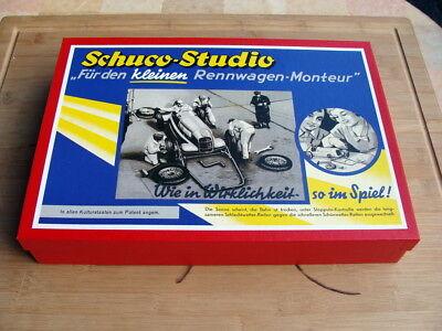 """Schuco 1055 -  Ltd Studio Bausatz """" für kleinen Rennwagen Monteur """" - Top OVP !"""