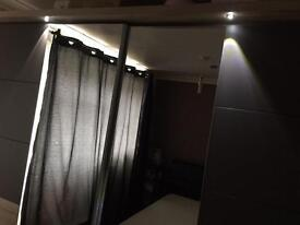 I have a modern sliding wardrobe with lights
