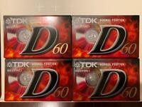 4 x TDK blank cassette tapes