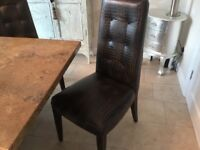 Italian Marble Dining Table 4 Leather Chairs And A Bench