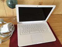 Apple MacBook White Unibody 13 inch 6GB latest macOS Sierra + Windows 7