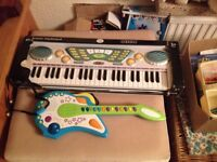 Electronic Keyboard Suitable Child 3 + Also New & Guitar Ideal Christmas Present