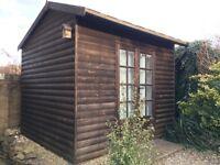 Insulated Outdoor Office / Garden Building 9' x 8'