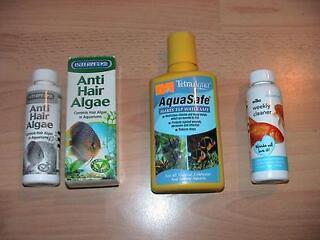 Aqua safe / anti hair algae / aquarium cleaner for fish tank aquarium