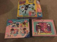 Timmy game and doc mc stuffing puzzles