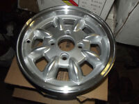 CLASSIC MINI SET OF NEW 5 X 12 MINILIGHT STYLE ALLOY WHEELS WITH POLISHED RIMS NEW EX DISPLAY