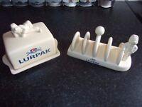 Lurpak Butter Dish & Toast Rack Duncan