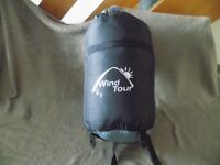 Wind Tour Sleeping Bag, 185+30 x 75 cm - Perfect for School Camp