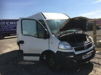 Vauxhall movano van Breaking spare parts available bumper bonnet wing light radiator doors seats