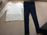 Age 13-14 girls' jeans and jumper - Johnnie Boden and Zara