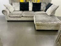 Grey L shape sofa •free delivery