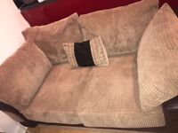 6 month old sofa 2 seater cream and brown