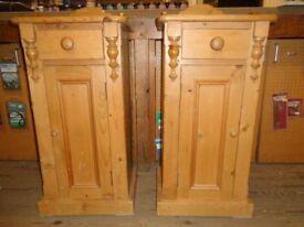 Pine bedside cabinets