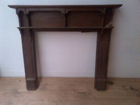 large period solid mahogany fire surround in excellent condition