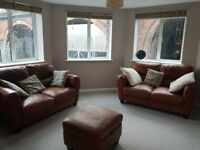 Sofas, cushions and poof