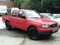 MAZDA B2500 TURBO DIESEL DOUBLE CAB 4x4 PICK UP P/X BARGAIN ONLY £995 MAY SWAP UP OR DOWN ??
