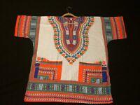 AFRICAN DASHIKI - MEXICAN - HIPPIE - FESTIVAL - MULTI COLOR - TOP-SUMMER - WOMEN - MENS T SHIRT