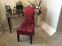 Dressing table chair RED