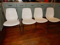 CAN DELIVER 4 x WHITE IKEA Dining Chairs Leifarne £ 140 at IKEA