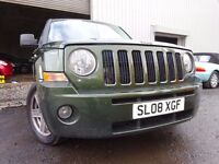 💥08 JEEP PATRIOT LIMITED 4X4 AUTOMATIC 2.4,MOT JULY 017,1 OWNER,PART HISTORY,STUNING JEEP 4X4