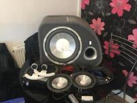 Jvc head unit sub and speakers