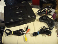 SEGA SATURN MK2 CONSOLE, ALL LEADS,FLASH CART AND OVER 50 GAMES
