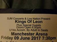 Kings of Leon Tickets Manchester Arena 9th June 2017