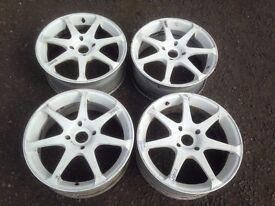 """Honda Nissan 17"""" Alloy Wheels 4x114.3"""