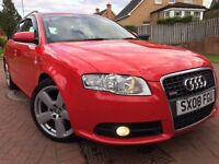*STUNNING LOOKING*2008(08)AUDI A4 SLINE 2.0 TDI 5DR ESTATE(140BHP)WITH SAT NAV AND 12 MTHS WARRANTY*