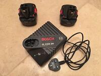 Bosch power tools batteries and charger