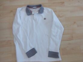 Moncler Youths Long Sleeve Polo Shirt - Worn Once Age 14