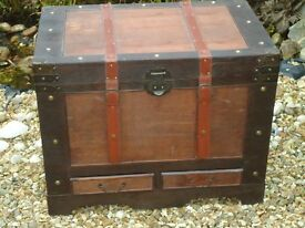 Large Wooden Storage Trunk / Chest / Coffee Table