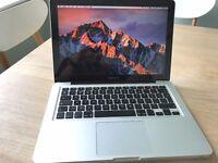 Macbook Pro 13inch, Top Spec i7 processor, Mid 2012 model, 8GB Ram, 750GB HD