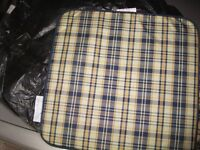 Outdoor Seat Pads - hardly used from Focus (1 bench + 2 chairs)