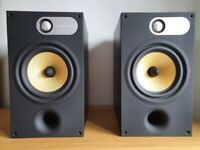 B&W 685 Bowers & Wilkins speakers, black ash, excellent new like condi