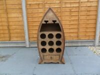 Boat Shaped Wine Rack in very good no damage at all pick up only from gosport po12