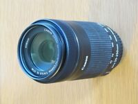Canon EF-S 55-250mm f/4-5.6 IS STM (Unboxed - Never Used) with Hood and Lens Pouch