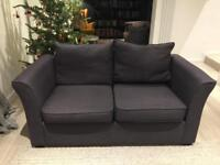 Dark blue Feather & Black double sofabed