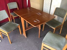 DROP LEAF TABLE WITH 4 CHAIRS,CAN DELIVER