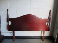 MCDONAGH FURNITURE MAHOGANY DOUBLE HEADBOARD FREE DELIVERY