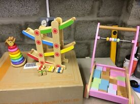 COLLECTION OF WOODEN TODDLERS TOYS