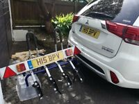 Bike carrier 4 Bikes 60KG capacity plus tail light board. Bargain at £99. Carrier cost 290 Euros.