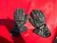 Richa leather motorbike gloves