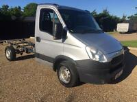 Iveco daily 35/s12 late 2012 62 reg silver chassis cab 5 speed manual new shape 2.3 hpi diesel