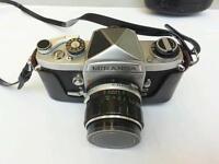 Miranda G 35mm film camera. With case and remote shutter wire