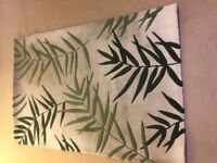 Cream and green fern rug with carpet-to carpet underlay. 180 x 120cm £20