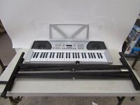 Acoustic solutions 54 key multi-function keyboard with stand, tested working
