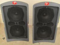 FENDER STUDIO SPEAKERS 80 watt each