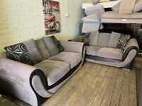 DFS GREY FABRIC SOFA SET IN EXTRA CONDITION 3+2 seater